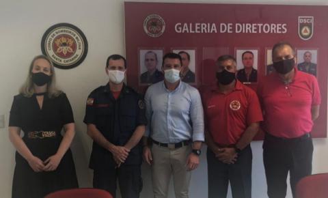 Sinduscon visita o Comando Geral dos Bombeiros de Florianópolis